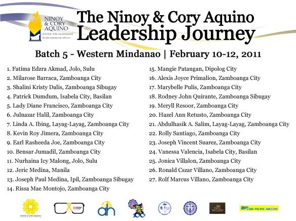 NCA Leadership Journey Batch 5 - Western Mindanao